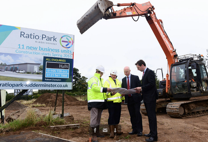 Chase Commercial breaks ground for SMEs at Ratio:Park Kidderminster